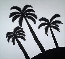 Palm Tree Silhouettes by DanielleGensler