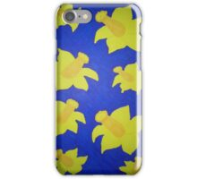 Pop Art Daffodils in Bold Blue iPhone Case/Skin