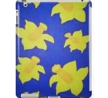 Pop Art Daffodils in Bold Blue iPad Case/Skin