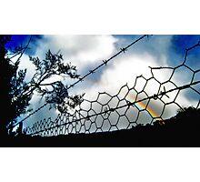 Barbwire Rainbow Photographic Print