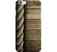 Vintage Rustic Rope and Wood iPhone Case/Skin