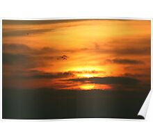 Sunset at Pacific Ocean Poster