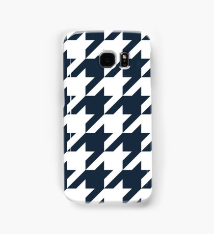 Navy Large Houndstooth Samsung Galaxy Case/Skin