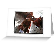 Three Little Monks Greeting Card