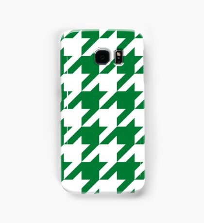 Green Large Houndstooth Samsung Galaxy Case/Skin