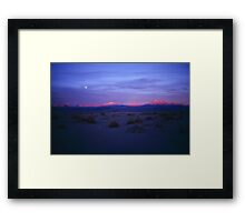 Atacama sunset Framed Print