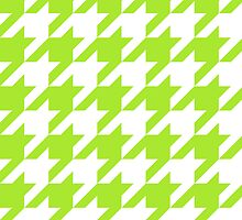LimeGreen Large Houndstooth by ImageNugget