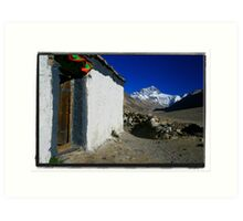 The Highest Mountain from the Highest Monastery Art Print