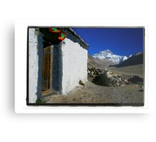 The Highest Mountain from the Highest Monastery Metal Print