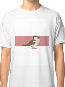 Sparrow geometrical vector illustration Classic T-Shirt