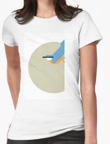 Nuthatch vector illustration Womens Fitted T-Shirt