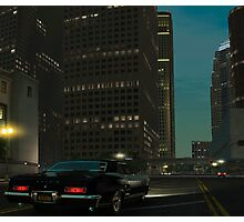 Downtown in the Midnight Photographic Print