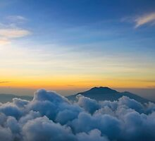 Soft Sunset on Cloudy Mountain by Ruben Sihombing
