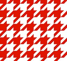 Red Large Houndstooth by ImageNugget