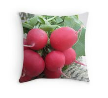 Radish Red Throw Pillow