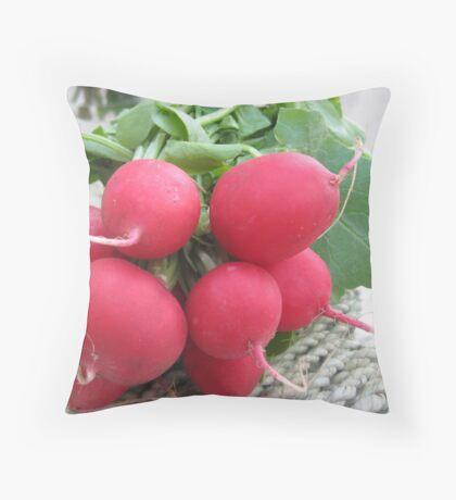 Radish Red Throw Pillow