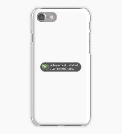 Achievement Unlocked - 20G Left the house iPhone Case/Skin