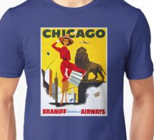 Chicago Vintage Travel Poster Restored Unisex T-Shirt