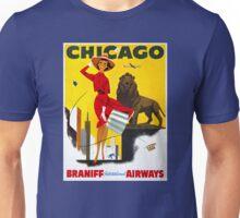 Chicago Vintage Travel Poster Restored Unisex T-Shirt