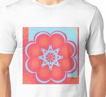 Red Blue Yellow Sun Flower Unisex T-Shirt