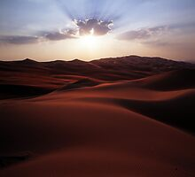 Sunset at the Liwa Oasis by Peter Doré