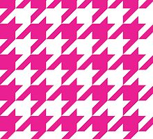 HotPink Large Houndstooth by ImageNugget