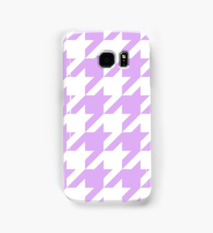Lilac Large Houndstooth Samsung Galaxy Case/Skin