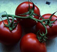 These tomatoes want to become a salad by Heidi Mooney-Hill
