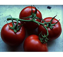 These tomatoes want to become a salad Photographic Print