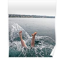 The Divers Feet Poster