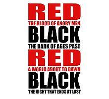 Red & Black Photographic Print