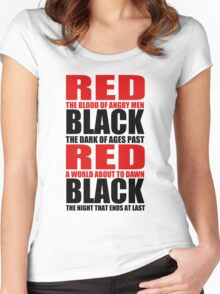 Red & Black Women's Fitted Scoop T-Shirt