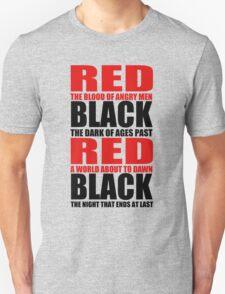 Red & Black Unisex T-Shirt