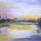 Tallebudgera Creek From Schuster Park circa 1986 by Virginia McGowan