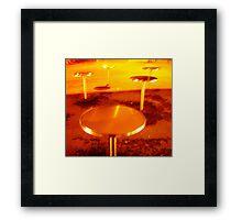 city mushrooms, night type Framed Print