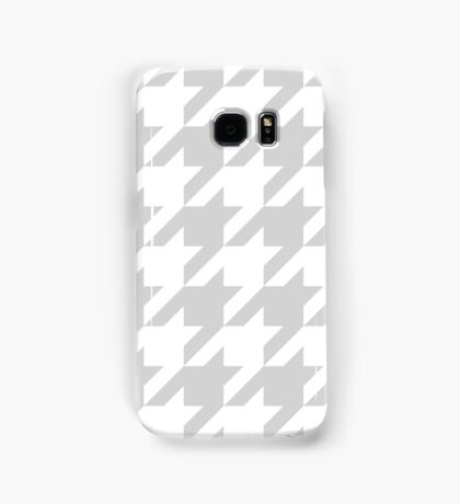 LightGrey Large Houndstooth Samsung Galaxy Case/Skin