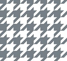 CoolGrey Large Houndstooth by ImageNugget