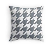 CoolGrey Large Houndstooth Throw Pillow
