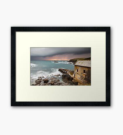 Lizard Point Storm. Framed Print