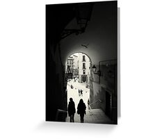 Down the archway Greeting Card