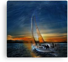 Fade To Sunset Canvas Print