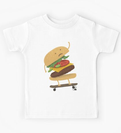 Burger Wipe-Out  Kids Tee