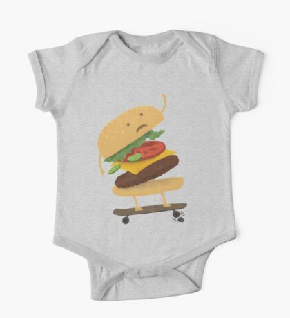 Burger Wipe-Out  One Piece - Short Sleeve