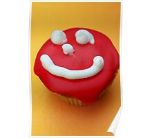 Cupcake with smily Poster