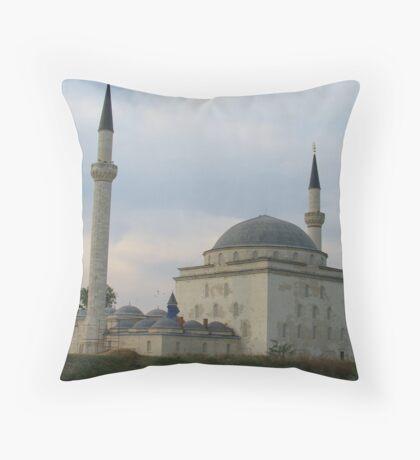 Mosque in Health Complex-Edirne Throw Pillow