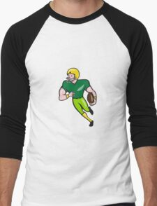 American Football Receiver Running Isolated Cartoon Men's Baseball ¾ T-Shirt