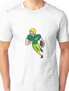 American Football Receiver Running Isolated Cartoon Unisex T-Shirt