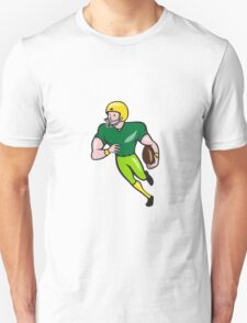 American Football Receiver Running Isolated Cartoon T-Shirt
