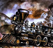 Old steam engine  by andy551
