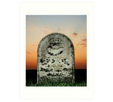 Headstone Art Print
